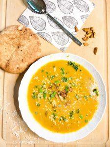 Karotten-Ingwer-Suppe nach Thai Art