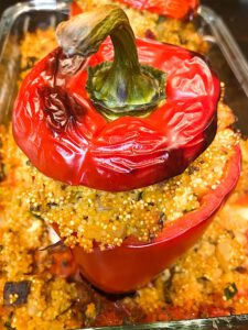 Read more about the article Gefüllte Paprika mit Hirse