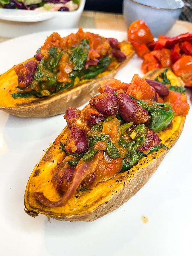 Gefüllte Süßkartoffel mexikanische Art