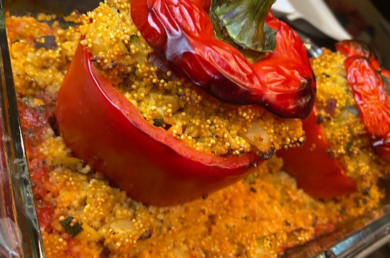 Gefüllte Paprika mit Hirse