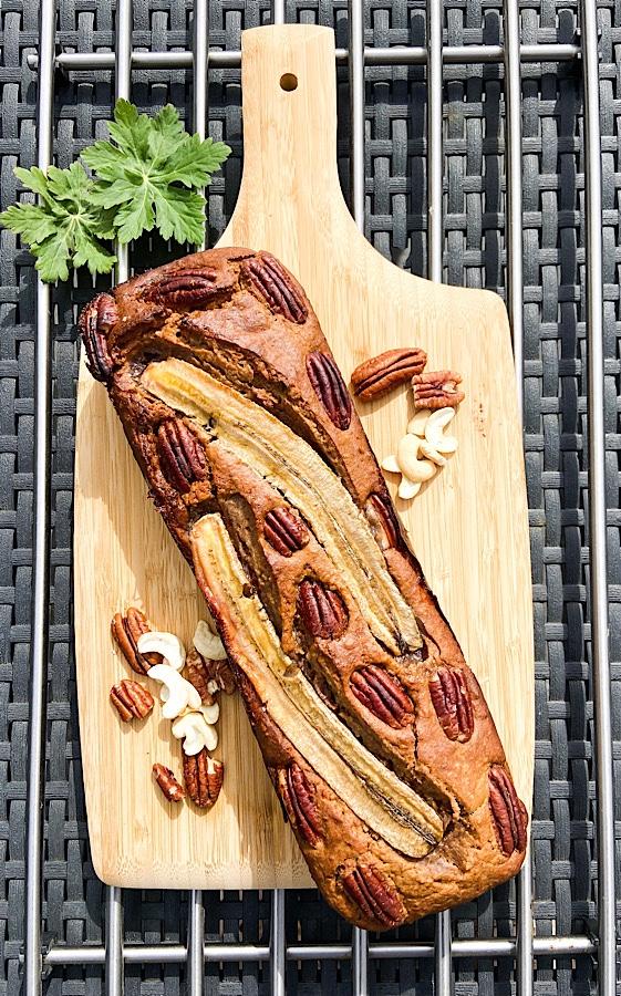 Bananenbrot mit Pekannüssen