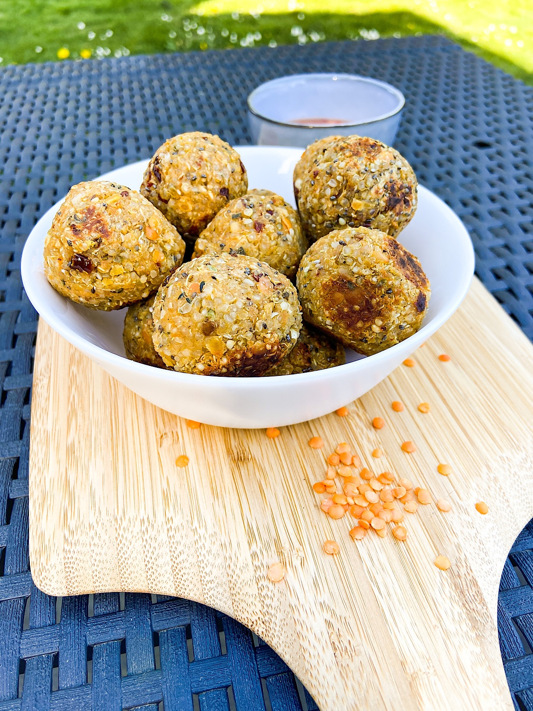 Quinoa-Linsen-Bällchen