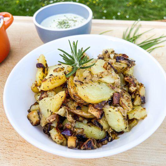 Klassische Bratkartoffeln - knusprig und schmackhaft (vegan)
