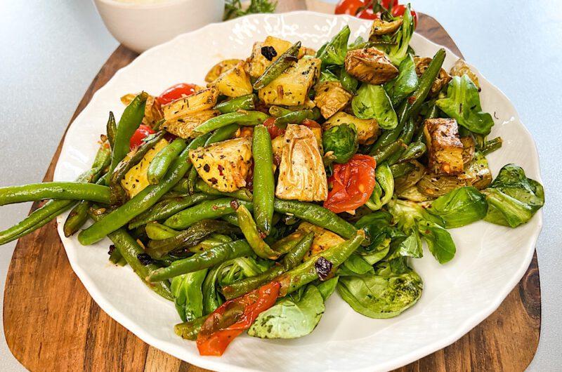 Knusper-Kartoffelsalat mit Prinzessbohnen